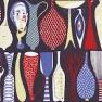 Tyg Pottery Blåsvart art.0506-0156-23 Formgivare: Stig Lindberg Smärting, 100% Bomull