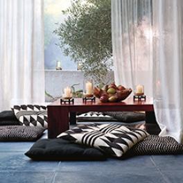 Ralph Lauren Tygkollektion Signature Black Palms möbel/gardin (14 tyger men i många färgställningar)
