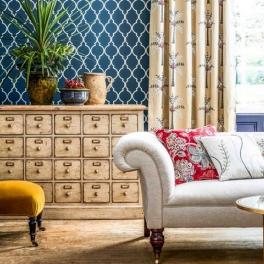 Style/library Sanderson Tygkollektion Art Of The Garden Fabrics möbel/gardin (9 tyger men i många färgställningar)