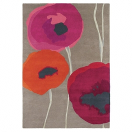 Sanderson Matta Poppies Red/Orange 140X200 cm