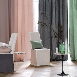 ROMO Tygkollektion Romari Linne Satin (40 färgställningar)