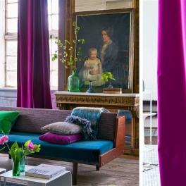 Designers Guild Tygkollektion Varese Sammet Gardin/Möbeltyg (102 färger)