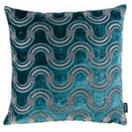 Kirkbydesign Kudde Spot on Waves Teal KDS5160/02 (2-PACK)