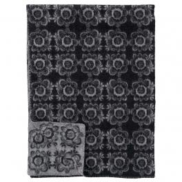 Klippans Yllefabrik Filt KURBITS SVART art.2269-02 (1-Pack) 100%Lammull
