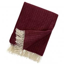Klippans Yllefabrik Pläd Himalaya-Bordeaux art.2087-04 (2-Pack) Extra mjuk 50%Cashmere 50%Merinoull