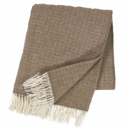 Klippans Yllefabrik Pläd Himalaya-Sand art.2087-01 (2-Pack) Extra mjuk 50%Cashmere 50%Merinoull