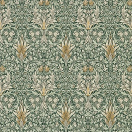 A. Nyhet WILLIAM MORRIS Tapetkollektion Archive IV - The Collector Tapet Snakeshead 216427