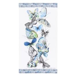 Designers Guild Badhanduk Papillons Cobalt 100x180 cm TOWDG0623 2-PACK