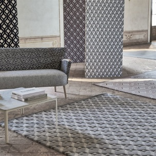 A NYHET Designers Guild Matta Dufrene Zinc Tre storlekar RUGDG0490-92 (FRI FRAKT)