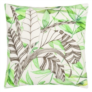 A Nyhet Designers Guild Kudde Palme Botanique Emerald CCDG0744 (1-PACK) - Kudde  En styck