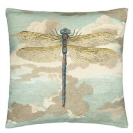 John Derian Kudde Dragonfly over Clouds Sky Blue CCJD5008 (2-PACK)