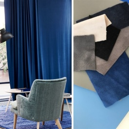 A. Nyhet Designers Guild Tyg Trentino Stretto sammet (33 färger) Bredd 145 cm