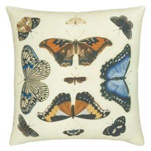 John Derian Kudde Mirrored Butterflies Parchment CCJD5007 (2-PACK) Kampanj 25% rabatt på hela köpet över 5000 kr (gäller ej rea och tyger) KOD. GTGYTKXL - 2-pack Kuddar med rabatt