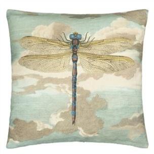 John Derian Kudde Dragonfly over Clouds Sky Blue CCJD5008 (2-PACK) - 2-pack Kuddar med rabatt