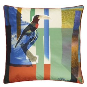 A Nyhet Christian Lacroix Kudde TOUCAN MIX MULTICOLORE CCCL0553 (2-PACK) - 2-pack Kuddar med rabatt