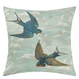 John Derian Kudde CHIMNEY SWALLOWS SKY BLUE CCJD5012 (1-PACK)