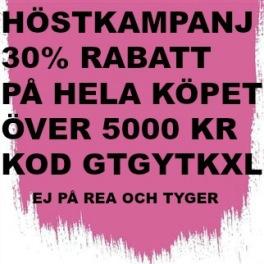 10A Höstkampanj 30% rabatt på hela köpet över 5000 kr(gäller ej rea och tyger) KOD. GTGYTKXL