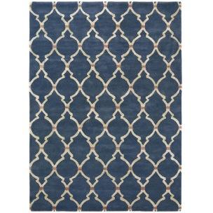 Sanderson Matta Empire Trellis Indigo art. 45508 Fyra storlekar. Mattprov 30x30 cm som lån, Kampanj 25% rabatt på hela köpet över 5000 kr (gäller ej rea och tyger) KOD. GTGYTKXL