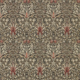 William Morris Tapet Snakeshead färg Charcoal/Spice kod 216425