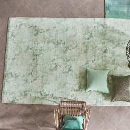 A. Nyhet Designers Guild Handtrykt Matta LA ROTONDA PALE AQUA Tre storlekar RUGDG0590-92 (Går att måttbeställa)