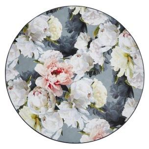 Designers Guild Digitaltrykt Matta PEONIA GRANDE ZINC Rund diameter 250 cm RUGDG0593 Kampanj 25% rabatt på hela köpet över 5000 kr (gäller ej rea och tyger) KOD. GTGYTKXL - Matta Rund Diameter: 250 cm