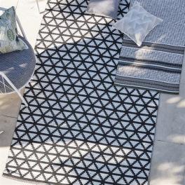 A. Nyhet Designers Guild Plastmatta indoor/outdoor Matta DELRAY NOIR Fyra storlekar RUGDG0582-84,87