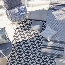 Designers Guild Plastmatta indoor/outdoor Matta DELRAY NOIR 90x150 RUGDG0587 Kampanj 25% rabatt på hela köpet över 5000 kr (gäller ej rea och tyger) KOD. GTGYTKXL
