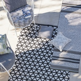 A. Nyhet Designers Guild Plastmatta indoor/outdoor Matta DELRAY NOIR 90x150 RUGDG0587