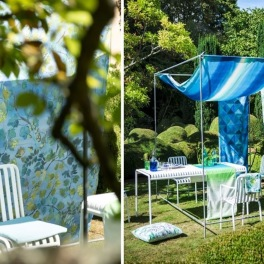 A. Nyhet Designers Guild Tygkollektion PALME BOTANIQUE OUTDOOR