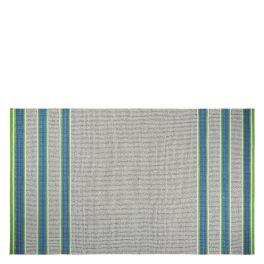 A. Nyhet Designers Guild Plastmatta indoor/outdoor Matta POMPANO COBALT Fyra storlekar RUGDG0574-75,88.0573