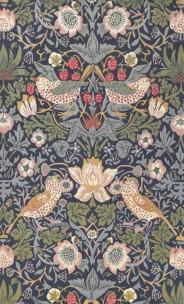 William Morris Matta STRAWBERRY THIEF Indigo art. 257127 Fyra storlekar. Mattprov 30x30 cm som lån, Kampanj 25% rabatt på hela köpet över 5000 kr (gäller ej rea och tyger) KOD. GTGYTKXL