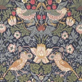 William Morris Matta STRAWBERRY THIEF Indigo art. 257127 Fyra storlekar