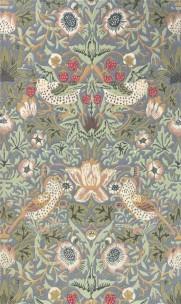 William Morris Matta STRAWBERRY THIEF Slate art. 257129 Fyra storlekar. Mattprov 30x30 cm som lån, Kampanj 25% rabatt på hela köpet över 5000 kr (gäller ej rea och tyger) KOD. GTGYTKXL
