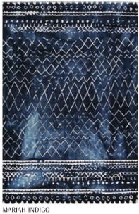 William Yeoward Handtufftad dubbelvävd Matta 100% ull Mariah Indigo Tre storlekar WYR00057X-59 Kampanj 25% rabatt på hela köpet över 5000 kr (gäller ej rea och tyger) KOD. GTGYTKXL
