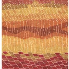 William Yeoward Handtufftad Matta 100% ull Stromboli Desert Tre storlekar WYR00085X,84X,83X