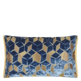 A Nyhet Designers Guild Kudde FITZROVIA CERULEAN 50x30 cm CCDG0958 (2-PACK)