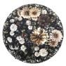 A. Nyhet Designers Guild Digitaltrykt Matta DAHLIA NOIR diameter 250 cm RUGDG0602 - Mattprov som lån återbetalas vid retur