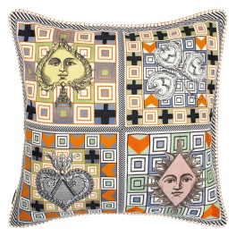 A Nyhet Christian Lacroix Kudde Poker Face Multicolore Cushion 50 x 50cm CCCL0573 (1-PACK )