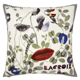 A Nyhet Christian Lacroix Kudde Dame Nature Printemps Cushion 40 x 40cm CCCL0572 (1-PACK )