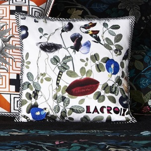 A Nyhet Christian Lacroix Kudde Dame Nature Printemps Cushion 40 x 40cm CCCL0572 (2-PACK ) - 2-pack Kuddar med rabatt
