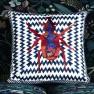 Christian Lacroix Kudde Beetle Waves Oeillet Cushion 40 x 40cm CCCL0575 (1-PACK ) Kampanj 25% rabatt på hela köpet över 5000 kr (gäller ej rea och tyger) KOD. GTGYTKXL - 2-pack Kuddar med rabatt