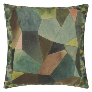 A Nyhet Designers Guild Kudde Geo Moderne Bronze Cushion 50 x 50cm CCDG0930 (1-PACK) - Kudde  En styck