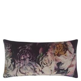 A Nyhet Designers Guild Kudde Fleur De Nuit Noir Cushion 60 x 30cm CCDG0923 (1-PACK)