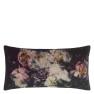 A Nyhet Designers Guild Kudde Fleur De Nuit Noir Cushion 60 x 30cm CCDG0923 (1-PACK) - Visar kudde baksida