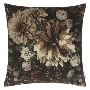 Designers Guild Kudde Dahlia Noir Slate Cushion 55 x 55cm CCDG0922 (1-PACK) Kampanj 25% rabatt på hela köpet över 5000 kr (gäller ej rea och tyger) KOD. GTGYTKXL - Kudde  En styck