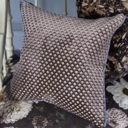 A Nyhet Designers Guild Kudde Portland Graphite Cushion 43 x 43cm CCDG0957 (2-PACK)
