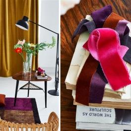 A. Nyhet Designers Guild Tygkollektion sammet VELLUTO FABRICS bredd 300 cm till gardin och möbler