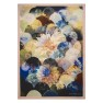 A Nyhet Designers Guild Pläd Kyoto Flower Peacock Throw 130 x 180 cm BLDG0196 digitaltrykt på 100% merino ull (1-Pack) - Per st