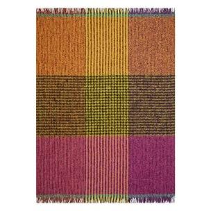 A Nyhet Designers Guild Pläd Katan Fuchsia Throw 130 x 180 cm Borstad mohair BLDG0199 (1-Pack) - Per st