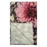 A Nyhet Designers Guild Pläd Dahlia Noir Fuchsia Throw 130 x 180 cm BLDG0197 digitaltrykt på 100% merino ull (1-Pack)